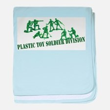 Plastic Toy Soldier Division baby blanket