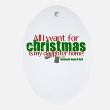 All I want Daughter NG Dad Ornament (Oval)