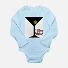 Olive you, Olive you too! Long Sleeve Infant Bodys