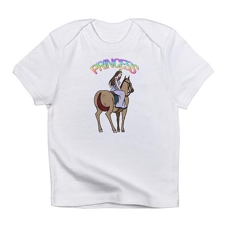 Brunette Princess and Pony Infant T-Shirt