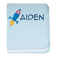 Aiden Rocket Ship baby blanket