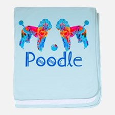 Whimsical Poodle Fun baby blanket