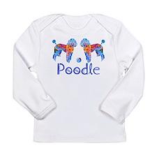 Whimsical Poodle Fun Long Sleeve Infant T-Shirt