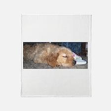 Puppy Sleeping Throw Blanket