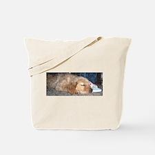 Puppy Sleeping Tote Bag