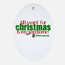 All I want Son NG Dad Ornament (Oval)