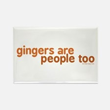 Gingers are People too Rectangle Magnet