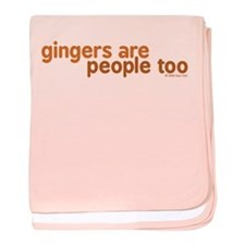 Gingers are People too baby blanket