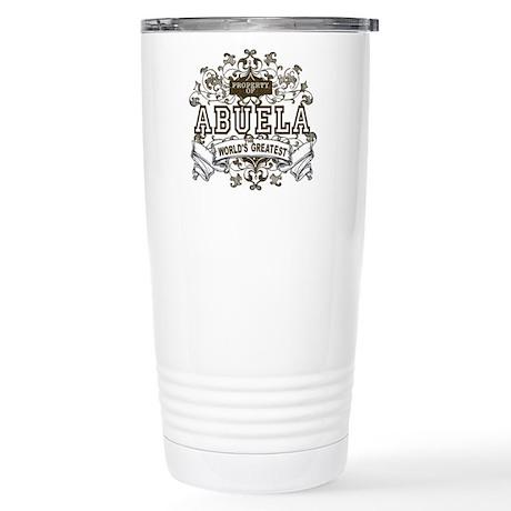 Property Of Abuela Stainless Steel Travel Mug