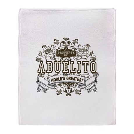 Property Of Abuelito Throw Blanket