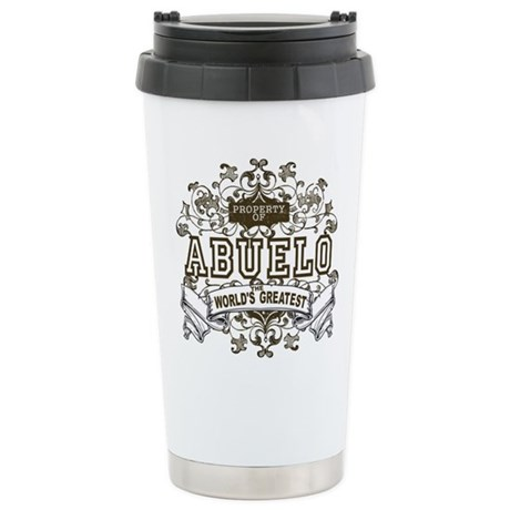 Property Of Abuelo Stainless Steel Travel Mug