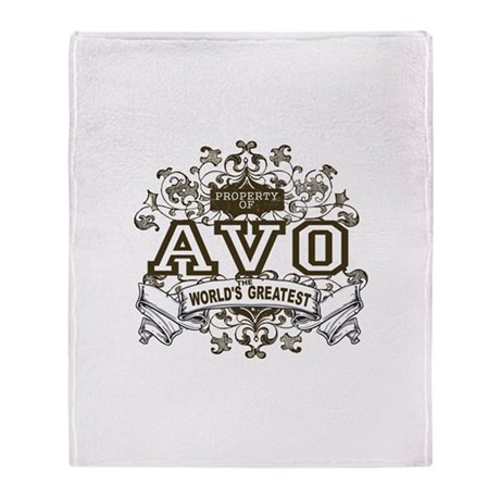 Property Of Avo Throw Blanket