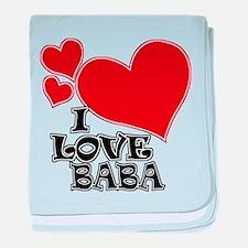 I Love Baba baby blanket