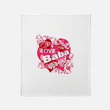 I Love You Baba Throw Blanket