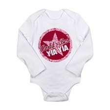 Worlds Best Yia Yia Long Sleeve Infant Bodysuit