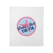 Worlds Best Yia Yia Throw Blanket