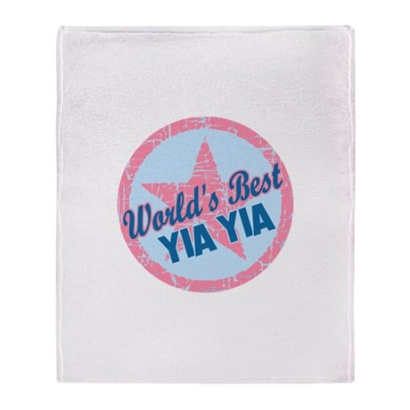 Worlds Best Yia Yia Throw Blanket
