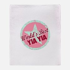 The World's Best Yia Yia Gift Throw Blanket
