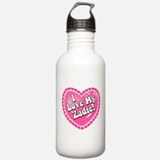 I Love My Zadie Water Bottle