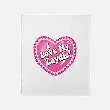 I Love My Zaydie Throw Blanket