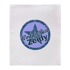 World's Best Zeidy Throw Blanket