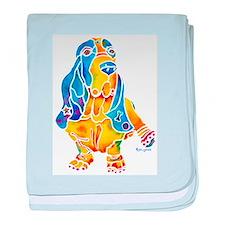 Bassett Hound Gifts baby blanket