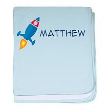 Matthew Rocket Ship baby blanket