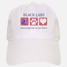 Black Lab Pawprints Baseball Baseball Cap