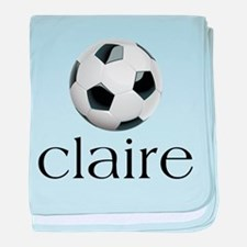 Claire Soccer baby blanket
