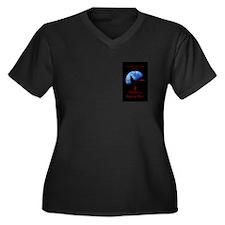 Unique Hunting Women's Plus Size V-Neck Dark T-Shirt