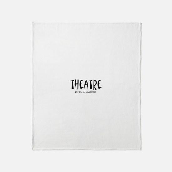 Cute Theatre Throw Blanket