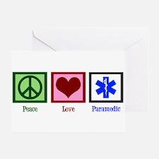 Peace Love Paramedic Greeting Card