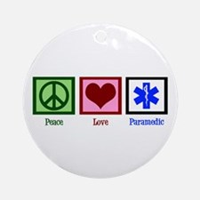 Peace Love Paramedic Ornament (Round)