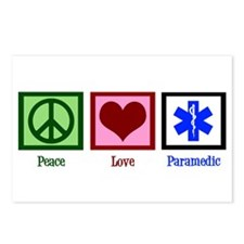 Peace Love Paramedic Postcards (Package of 8)