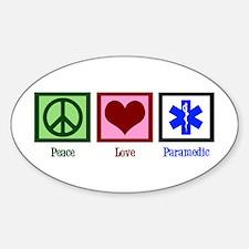 Peace Love Paramedic Decal