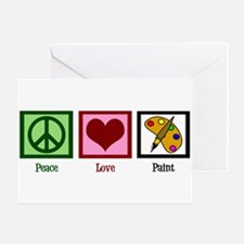 Peace Love Painting Greeting Card