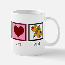 Peace Love Painting Mug