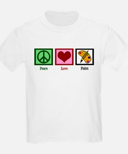 Peace Love Painting T-Shirt