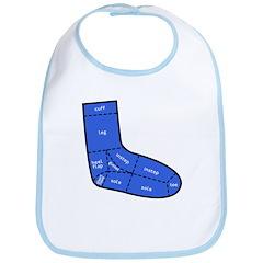 Sock Anatomy Bib