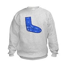 Sock Anatomy Kids Sweatshirt