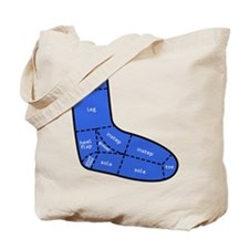Sock Anatomy Tote Bag