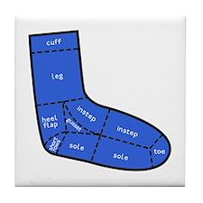 Sock Anatomy Tile Coaster