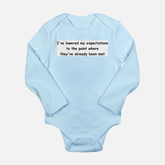 Expectations Long Sleeve Infant Bodysuit