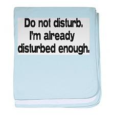 Do not disturb baby blanket