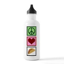 Peace Love Tacos Sports Water Bottle