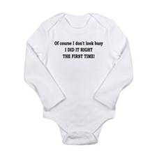 first time! Long Sleeve Infant Bodysuit