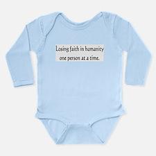 Losing faith Long Sleeve Infant Bodysuit