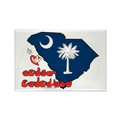 ILY South Carolina Rectangle Magnet
