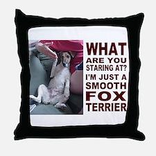 Just a Smooth Fox Terrier  Throw Pillow