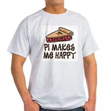 PI Makes Me Happy Ash Grey T-Shirt